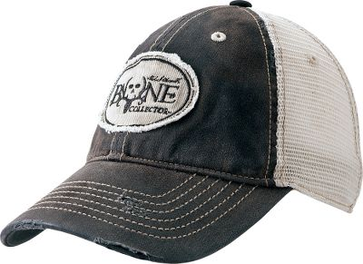 The relaxed, mesh-backed cap features a distressed bill and a low-profile fit. Hook-and-loop closure. Embroidered Bone Collector logo. One size fits most. Imported. Colors: Black, Brown. - $19.99