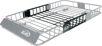 Motorsports Free up space inside your vehicle and secure all the extra gear you never had room for. The two-piece design, with optional basket extension, lets you extend the length from 43-1/2 to 64-1/2 for longer vehicles and more payload. Round steel tubing is treated with an E-coat process, then finished with a black, durable powder coating. Fits all factory, round, oval or square bars. No tools required for installation. Weight: 17 lbs.Available: Cargo basket, Basket extension.DImensions: 43-1/2 L x 37 W x 4 H. - $29.88