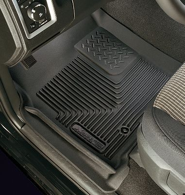 Motorsports Featuring FormFit Design that molds to every little contour, Husky Liners X-act Contour Series Floor Liners ensure your vehicles floor is protected with a like-factory fit. Rubberized DuraGrip construction blends strength and softness to provide durability and comfort. StayPut cleats keep them from sliding around on the floor, whether you have carpet or vinyl. FormFit Edge runs along the door jams to provide a finished look and keep messes contained. Channels water and muck away from feet. Easy to install, remove and clean. Manufacturers lifetime warranty. Made in USA. Color: Black. Color: Black. Type: Floor Mats. - $99.99