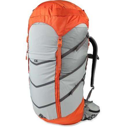 Camp and Hike The Boreas Lost Coast 45 pack offers a smart and simple packing system for weekend trips or lightweight backpacking excursions, providing ample space and organization options for easy accessibility. Light, no-nonsense hipbelt and shoulder straps with sternum strap are made with resilient foam that keeps its volume and helps distribute pressure evenly. Simple, zigzag foam back panel and removable framesheet are shaped to match the curve of your back and pump fresh air through the channels as you walk. Streamlined pack body features a light polyurethane rib cage design that adds structure; removable top lid features a zippered pocket and helps fend off precipitation. Full-length front stretch pocket, 2 side stretch pockets and 2 hipbelt pockets let you organize and easily access gear, clothing, water bottles and snacks. The Boreas Lost Coast 45 pack features tuck-away daisy chains, a raincover, hidden gear loops on the shoulder straps and hydration compatability (reservoir not included). Closeout. - $133.73