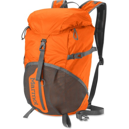 Camp and Hike The updated Marmot Kompressor Plus pack combines wrap-around compression and ultralight performance with plush comfort and generous volume for a day of outdoor fun. And it packs into its own lid! - $55.00