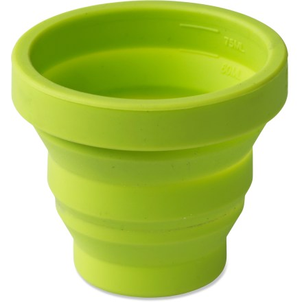Camp and Hike The collapsible Sea to Summit X-Shot glass is perfect for an early morning shot of espresso or measuring out liquids when cooking up a gourmet camp meal. - $5.95