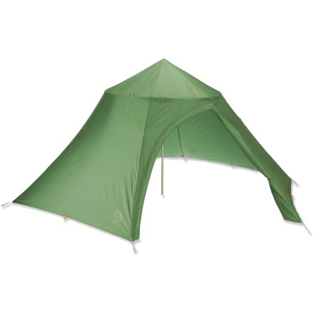 Camp and Hike The Mountain Hardwear Hoop Dreams 4 is a lightweight teepee-type backpacking shelter. It does double duty as a sun shelter for the beach or park, and also at open-air festivals and events. - $179.93