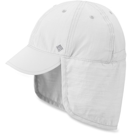 Sports The Columbia Junior Cachalot hat helps keep harmful sun rays off your child's face and neck for more complete UPF protection than a regular baseball cap offers. Nylon fabric and polyester sweatband wick moisture away and dries quickly. Fabric provides UPF 50+ sun protection, shielding skin from harmful ultraviolet rays. Adjustable drawcord and toggle at back personalize fit of the Columbia Junior Cachalot hat. - $18.93