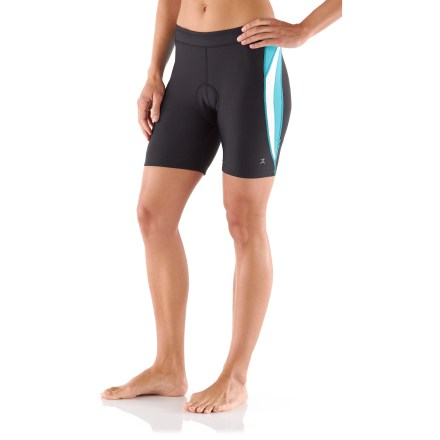The Danskin Color Block Tri shorts transport moisture away from your skin, dry quickly and have a soft, light texture. - $17.83