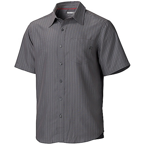 Fitness On Sale. Free Shipping. Marmot Men's Sanitas SS Top DECENT FEATURES of the Marmot Men's Sanitas Short Sleeve Top Soft, Sanded, Breathable Mid-Weight Fabric Marmot Up Cycle Product with Recycled Polyester Durable Flat Felled Seams with Contrast Interior Stitch Shirt Tail Hem and Single Patch Pocket Tag-Free Neckline The SPECS Weight: 7.76 oz / 220 g Fit: Regular Fit Material: 55% Polynosic Rayon 35% Recyled Polyester 10% Polyester 4.2 oz/yd - $39.99