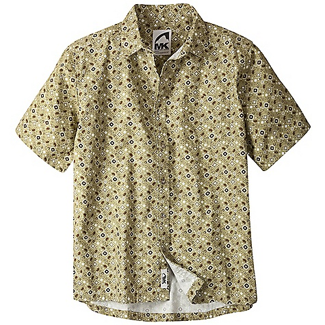 Free Shipping. Mountain Khakis Men's Signature Print Short Sleeve Shirt DECENT FEATURES of the Mountain Khakis Men's Signature Print Short Sleeve Shirt 5 oz 100% Cotton Plain Weave MK Signature Bison Print Left Chest Pocket Signature MK Back Yoke Drop Tail Hem Embroidered Treatment Back Right Shoulder Garment Washed Casual Fit - $69.95