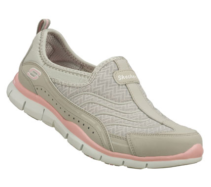 Noteworthy sporty style and comfort come in the SKECHERS Gratis - Legendary shoe.  Smooth faux leather and mesh fabric upper in a slip on sporty casual sneaker with stitching and overlay accents. Memory Foam insole for added comfort. - $60.00