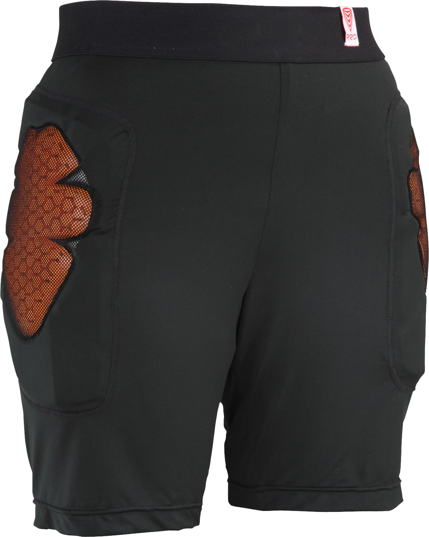 Red Base Layer Short Padded Shorts Black - $44.95