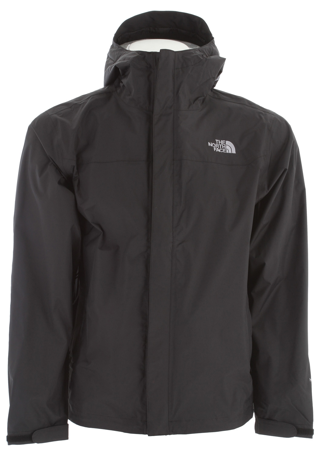 Classic, year-round rainwear, now constructed with HyVent 2.5L EC fabric, an eco-conscious material; our most popular waterproof, breathable jacket. Key Features of The North Face Venture Jacket: Standard fit Waterproof, breathable, seam sealed Attached, fully adjustable hood with hidden drawcord system Center front zip and Velcro® closure Brushed chin guard lining Pit-zips Two hand pockets Stowable in hand pocket Self fabric adjustable Velcro® cuff tabs Hem cinch-cord / fabric: 40D 85 g/m (2.5 oz/yd ) 100% nylon ripstop HyVent 2.5L EC (50% non-petroleum membrane) - $99.00