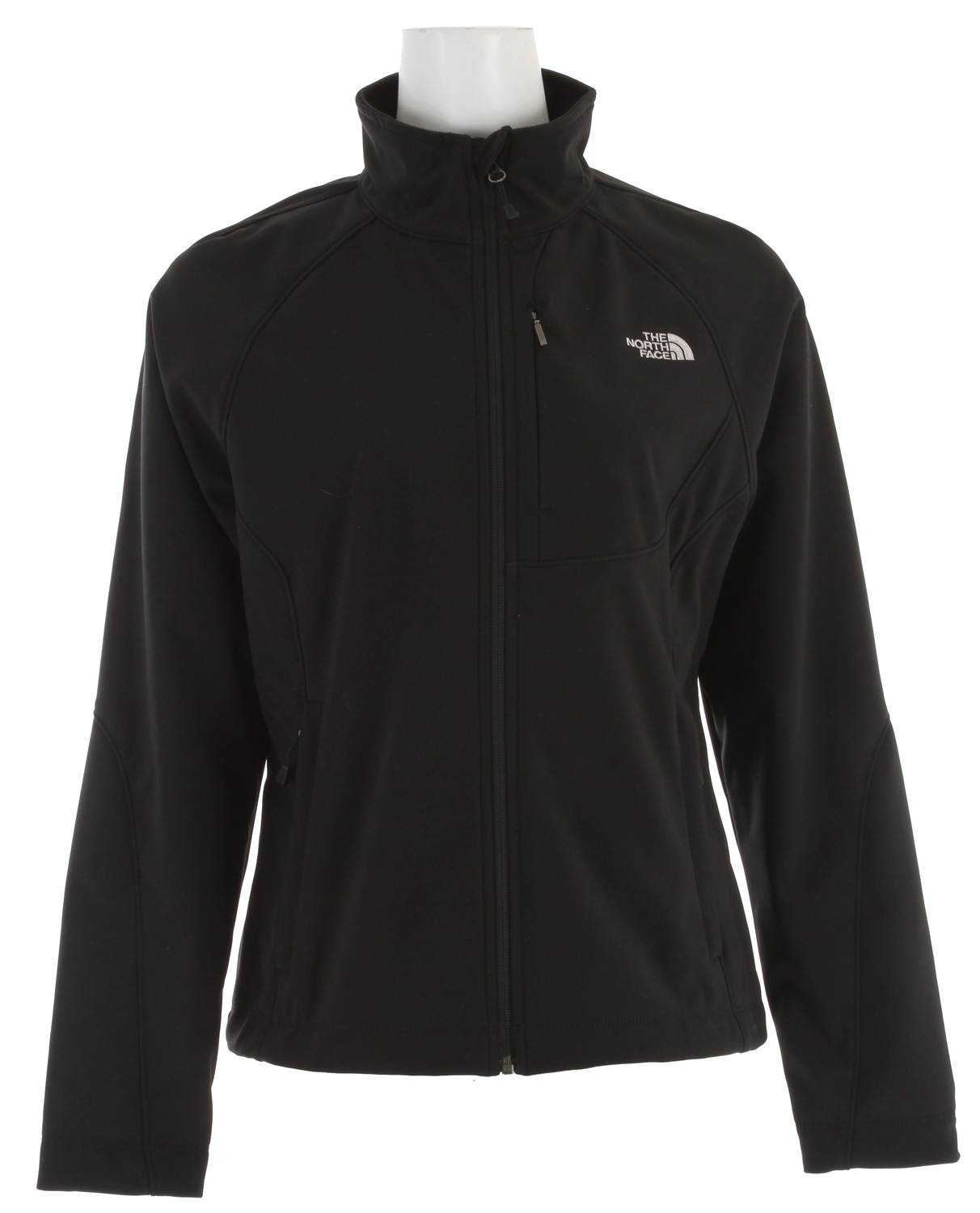 Versatile and widely worn soft shell has enhanced windproof features and a stretchy, comfortable fit; ideal for multiple activities.Key Features of The North Face Apex Bionic Jacket: Standard fit TNF® Apex ClimateBlock fabric wind permeability rated at 0 CFM Fleece backer Napoleon chest pocket Two hand pockets Internal stretch comfort cuffs - $111.95