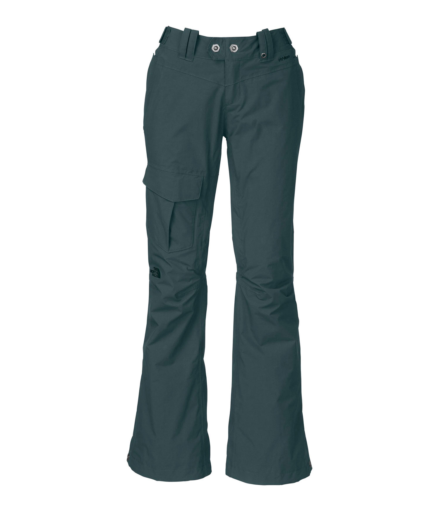 "Ski Insulated in the most important places-the seat and the knees-this waterproof, breathable pant offers a great feminine fit that will turn heads on the mountain. Key Features of The North Face Shawty Ski Pants: Avg Weight: 670 g (23.63 oz) Inseam: 31.5"" Fabric: shell: HyVent® 2L foxfaille Lining: taffeta Insulation: 60 g Heatseeker™ Adjustable waist tabs Handwarmer zip pockets Inner thigh vents with mesh gussets Thigh pocket Articulated knees StretchVent ™ gaiter with gripper elastic Reinforced cuffs Chimney Venting™ system - $111.95"