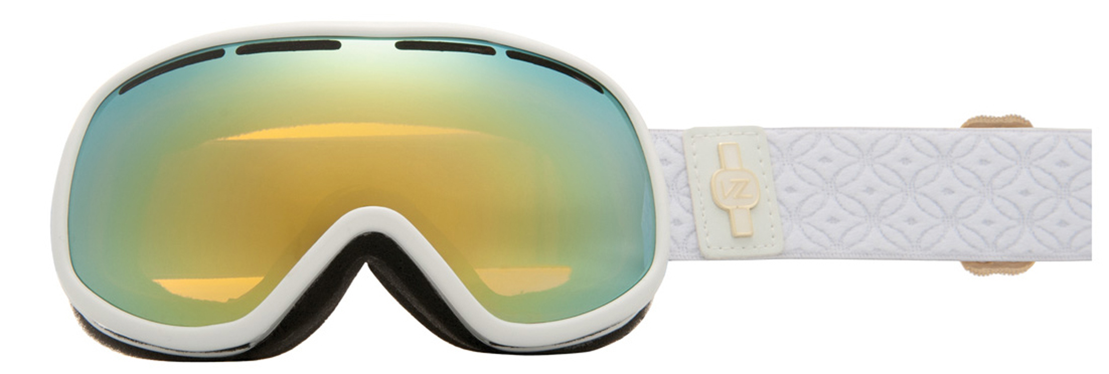 Snowboard The maximum in minimalism, this goggle accommodates a small to medium face size and is a ritual in oneness with the flow of the flurry universe... will assist you in finding your spiritual center of snow unity sending you down the blizzardy path of meaningful existence...Key Features of the Vonzipper Chakra Snowboard Goggles: Ergonomic frame design Thermopolyurethane injection molded frame 100% UV protection Dual cylindrical polycarbonate lens Barricade anti-fog and hard coated lens Polar fleece lined triple density face foam Dual adjustable strap Helmet compatible Microfiber goggle bag included - $100.00