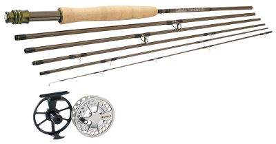 Flyfishing Save when you put together a Cabelas Stowaway 6 fly rod and a Lamson Konic fly reel. Combos come with Prestige Plus weight-forward floating fly line (a $39.99 value), backing and a 20 Cabelas Rod and Reel Combo case (a $29.99 value). Our lightest, highest-quality ultrapackable fly rods. At 15 to 18 long, these six-piece rods are small enough to fit in a suitcase. Dont let the extra pieces fool you these 30 million-modulus graphite rods generate the smooth-loading performance youd expect from two-piece rods. The responsive moderate/fast action suits a wide range of abilities and techniques. The tip flexes easily for accurate short casts, while the powerful butt section has the backbone needed for longer casts in windy conditions. With an even number of sections, the rods can be broken down into two pieces for easier accessibility between trips to fishing holes, or broken all the way down for packable convenience. High-grade components include woven graphite reel seats for lightweight strength; lightweight chrome snake guides and SiC stripper guides; and AA cork grips. Alignment dots for quick, easy assembly. Rod tube included. Konic delivers smart design and high performance in these affordable fly reels. Extremely durable with a smooth contrasting finish, theyre pressure-cast, anodized and then coated with 100% solid polyurethane for scratch and corrosion resistance. Fitted with super-smooth, sealed conical drag. Images depict the style of the rod handle and may not fully represent the actual length. Type: Freshwater Fly Combos. - $324.99