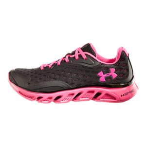 Fitness UA Power In Pink(TM) celebrates the women who use sports, fitness, and an active lifestyle in their fight against breast cancer. And you can join them by gearing up in our Power In Pink(TM) edition of our signature UA Spine Running Shoes. They deliver the sturdiness of a stability shoe with the weightlessness of a distance shoe thanks to an ultra-light, ultra-responsive outsole that actually mimics the human spine. Finished with bold pops of PIP pink, these shoes do more than just look good-they do good. Part of our UA Power In Pink(TM) CollectionUnder Armour(R) will donate a minimum of $500,000 to various breast cancer centers and charities through our UA Power In Pink(TM) programBuilt to log some serious milesLightweight, seamless upper delivers support at mid and forefoot for unrivaled comfortUnique UA Spine chassis delivers the ultimate in lightweight structure mile after mileUltra-lightweight Micro G(R) foam midsole turns cushioned landings into explosive takeoffsFull length molded 4D Foam(R) sockliner and collar conform to your foot for a customized fitDurable carbon and blown rubber outsole cushions your ride while delivering superior traction7.375 ozImported - $79.99