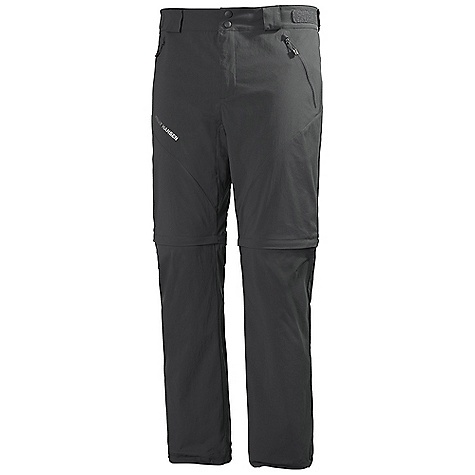 Free Shipping. Helly Hansen Men's Odin Series Zip Off Pant DECENT FEATURES of the Helly Hansen Men's Odin Series Zip Off Pant Quick dry fabric Polyamide Spandex stretch UPF 30+ Regular fit Belt loops Two button front Zipped pockets YKK zippers Helly Hansen logo on thigh Articulated knees Waist adjustment The SPECS Fitting: Regular fit Fabric Weight: 158 g/m2 Fabric: 96% Polyamide, 4% Elastane This product can only be shipped within the United States. Please don't hate us. - $119.95