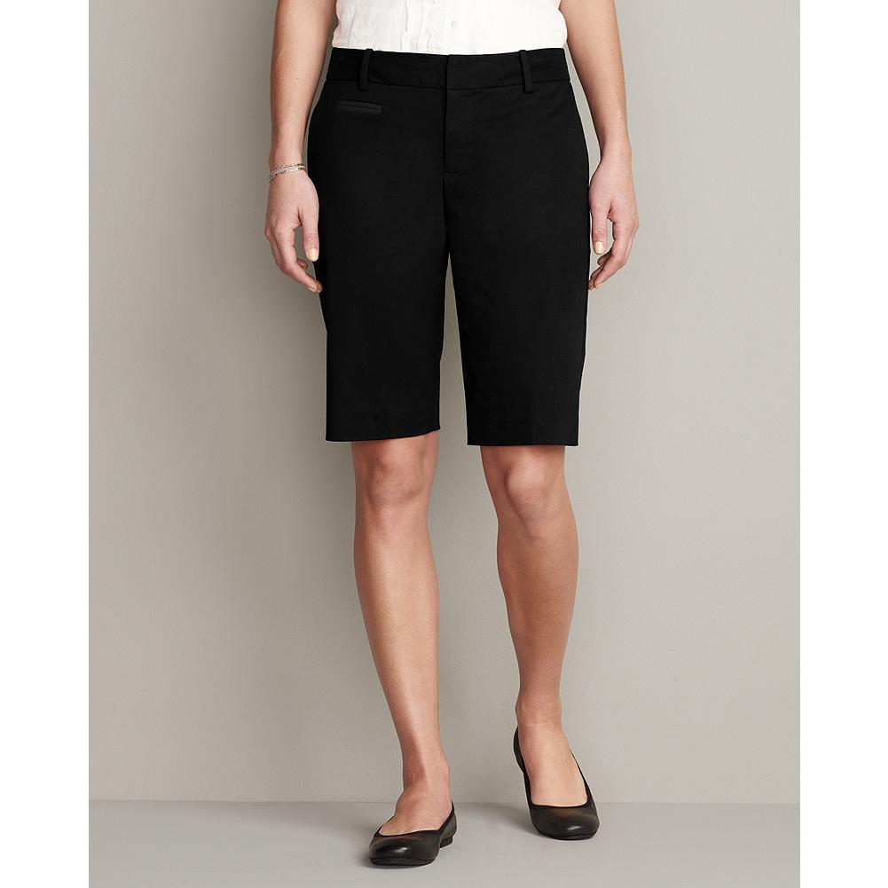"Eddie Bauer Slightly Curvy 11"" Perfect Twill Bermuda Shorts - A sophisticated spin on a warm weather classic, our Perfect Twill Burmuda Shorts feature a clean, refined look that perfect for almost any occassion. Standard waist, mid-rise; slightly fuller hip and thigh. Modified Hourglass Body Shape. - $14.99"