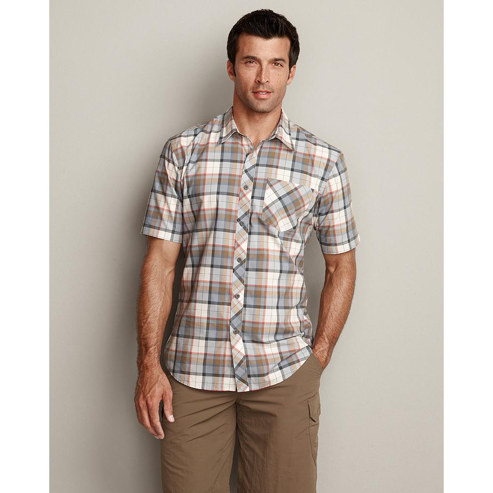 Entertainment Eddie Bauer Classic Fit High Mesa Shirt - A summer favorite, our High Mesa Shirt provides breathable, durable performance that keeps you looking good too. The easy-care cotton/polyester blend comes out of the dryer ready to go. - $14.99