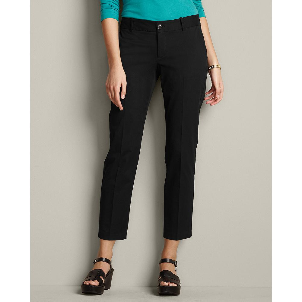 Entertainment Eddie Bauer Slightly Curvy Perfect Twill Ankle Pants - A touch of stretch gives our Perfect Twill ankle-length pants a clean, refined look that transitions from workday to weekend with the greatest of ease. Standard waist, mid-rise; slightly fuller hip and thigh. Straight leg. Modified Hourglass Body Shape. - $14.99