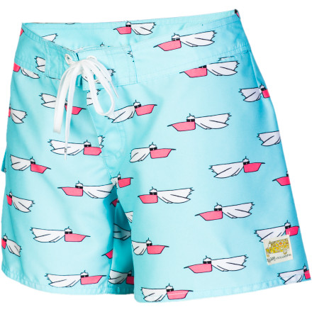 Surf When you need to stretch your legs after a few hours in the hammock, pull on the Billabong Women's Andy Davis Pelly 5in Board Short and head to the boardwalk for some ice cream and arcade games. - $47.95