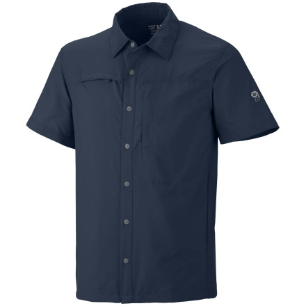A hot day on the trail can leave you sweat soaked unless you wear the Mountain Hardwear Canyon Short-Sleeve Shirt. This technical shirt works hard to move sweat away from your skin and keep fresh air flowing so you stay cool and dry. - $54.95