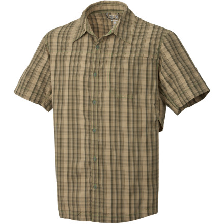We could use terms like 'moisture management' to describe the Mountain Hardwear Men's Fallon Shirt, or we could just tell you that this shirt is tough and versatile enough to make a ninja-lumberjack look lame. That's right, a ninja (ninjas roll with just about anything) combined with a lumberjack (made for the woods, but soft at heart). Mesh vents add to the mix in order to keep you cool when the heat is on...not that you would feel it in this shirt anywayit's known for keeping a cool head. - $69.95