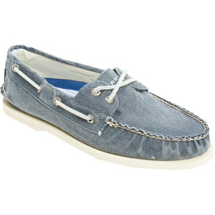 Slip the classically comfortable Sperry Top-Sider A/O 2-Eye Canvas Loafer onto your foot before you head out the door to check the height of the waves. The crusty old guys down on the boat ramp will quickly recognize that you have the same passion for boating that your grandfather did, seeing as how you're wearing almost the same shoe he did 75 years ago. - $76.46