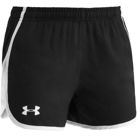 Climbing When your girl is running hard in the heat of the day, get her a lot of water, and put her in the Under Armour Escape Short. Strategic ventilation and HeatGear fabric do their part to keep her cool when the sun is heating things up. - $19.95