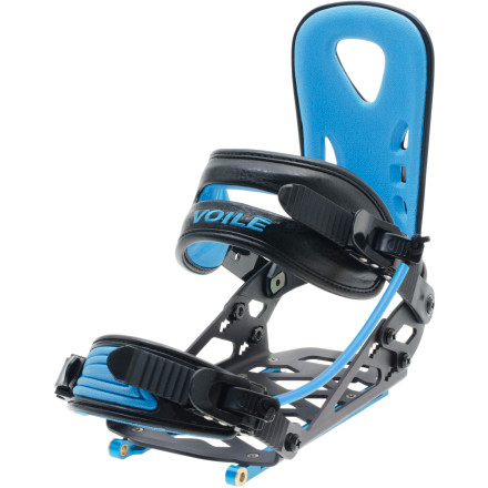 Snowboard The Voile Light Rail Split Snowboard Binding eliminates the extra plate that is essential to binding systems that use regular bindings. The cut-away aluminum construction reduces weight and increases durability and stiffness. for serious snowboard touring, there is really no other choice. - $269.06