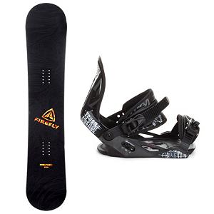 Snowboard Firefly Rampage Helix Snowboard and Binding Package - When it's time to tear up the mountain, get the Firefly Rampage Snowboard Package. It includes the Rampage, a fun beginner board for the guy looking to shred this winter that will get you up on your feet and make learning the ways of the mountain simple and fun. This board has a soft flex and is very forgiving, making it the perfect all mountain board. It comes with the M3 Helix Binding which is a soft flexing binding forgiving enough to accommodate any inexperienced rider, while a thick but soft flexing ankle strap provides the support and response needed to progress. Padding underfoot dampens vibration and eliminates shock giving confidence to the entry level rider looking to take on anything. A soft foam convertible toe strap allows the rider to wear the binding over the top of the boot like a traditional strap or conforms to fit over the toe of the boot eliminating any possible pressure points and drawing the boot back into the binding. An entry level ride with a stylish design, the Firefly Rampage Snowboard Package will give you the confidence to reach the next level and have fun while learning! (Please note that since this is a package item, it may be shipped in multiple packages from different locations. In some cases, your items may arrive on different days and/or from different carriers.) . Recommended Use: All-Mountain, Snowboard Rocker Profile: Camber, Package Type: Board and Bindings, Product ID: 244143, Gender: Mens - $149.99