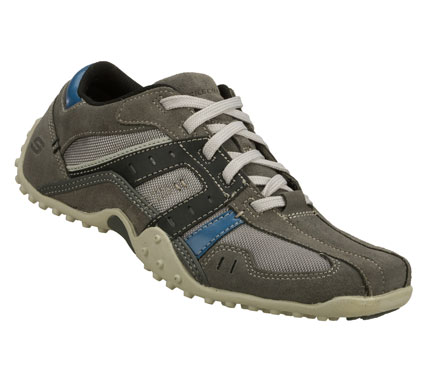A favorite look gets a sporty upgrade in the SKECHERS Urbantrack - Torrey shoe.  Soft suede; synthetic and cordura fabric upper in a lace up sporty casual oxford sneaker with stitching and overlay accents. - $59.00