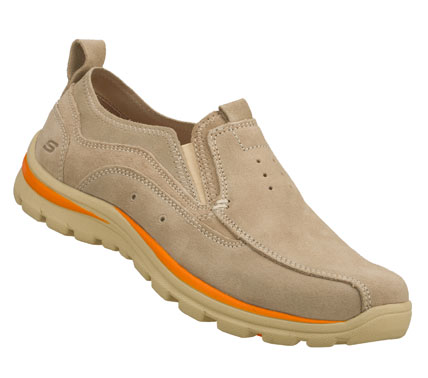 Spend the warm weather in easygoing cool style with the SKECHERS Relaxed Fit: Superior - Bates shoe.  Soft suede upper in a slip on casual boat inspired loafer moc with stitching and overlay accents. - $65.00