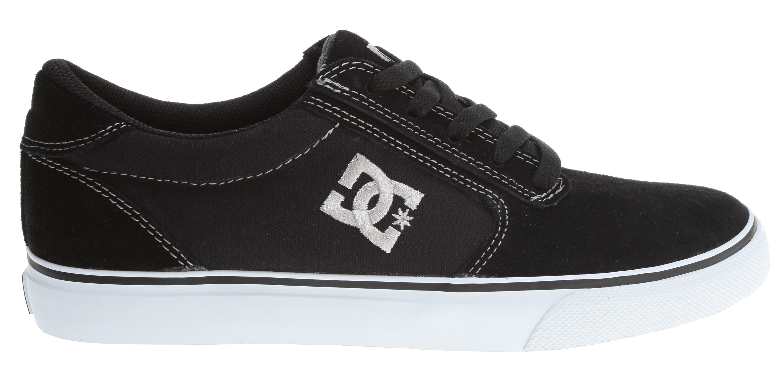 "Skateboard Key Features of the DC Gatsby 2 Skate Shoes: Heavy Duty Suede upper Clean single toe piece with embroidered logo Vulcanized construction for great board feel and sole flex Abrasion resistant sticky rubber outsole DC's Trademarked ""Pill Pattern"" bottom - $24.95"