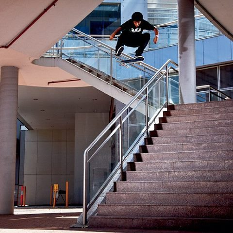 Skateboard Kevin Romar, Kickflip, Photo: @ShadLambert ( @BlindSkateboards, @SupraFootwear, @Kr3W_Denim, #tsm102 ) http://instagr.am/p/OaGX6rnnJR/