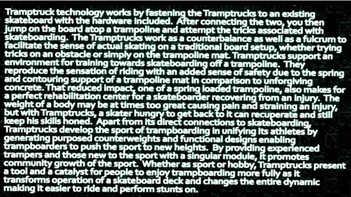 Skateboard WHT ARE TRAMPOLINE SKATE TRUCKS?? just read abt it lol