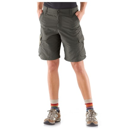 Camp and Hike Soft and durable REI Sahara plus-size shorts are ready to hit the trail. They feature quick-drying fabric and plenty of pocket space for your trail goodies. - $10.83