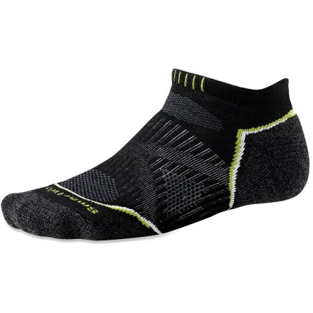 Fitness SmartWool Running Light Micro men's socks feature innovative fabric, a comfortable fit and smart design details that enhance performance. - $10.93