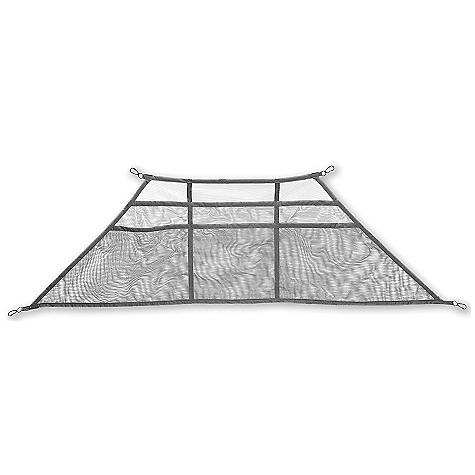 Camp and Hike Stash your goodies using the Wall Gear Loft by Big Agnes made of lightweight mesh. Loft attaches to loops included in the tent. Features of the Big Agnes Wall Gear Loft Wall Loft-Fits: Emerald Mountain SL1, 2 and 3, Copper Spur UL1, 2 and 3, Royal Flush 3 Wall Loft-Fits: Copper Spur UL (all), Jack Rabbit SL (all), Fly Creek UL 3 and 4, Scout 2, Fishhook 1, Lone Spring 1 and Royal Flush 3 Large Wall Loft-Fits: Burn Ridge 4, Slater UL3, Blacktail 3 - $21.95