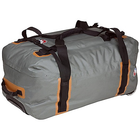 Entertainment Free Shipping. Big Agnes Stagecoach Waterproof Rolling Duffel DECENT FEATURES of the Big Agnes Stagecoach Waterproof Rolling Duffel Durable, waterproof nylon with welded seams Heavy duty plastic, tractor-style wheels on medium and large sizes. Polyurethane inline skate wheels on small size Improved flip top lid opens fully Light gray interior so you can see your stuff Durable aluminum frame with extending lockable handle Two large interior zippered pockets Independent backpack strap system and external compression straps Water resistant, molded plastic zipper and soft rubber grab handles Size small meets most airline carry-on size regulations The SPECS for Small Dimension: 22 x 14 x 11in. / 56 x 36 x 28 cm Weight: 5 lbs 12 oz / 2.6 kg Volume: 3539 cubic inches / 58 liter The SPECS for Medium Dimension: 29 x 14 x 16in. / 74 x 36 x 39 cm Weight: 8 lbs 7 oz / 3.8 kg Volume: 6896 cubic inches / 113 liter The SPECS for Large Dimension: 35 x 16 x 18in. / 89 x 41 x 46 cm Weight: 9 lbs 10 oz / 4.4 kg Volume: 11656 cubic inches / 191 liter - $148.95