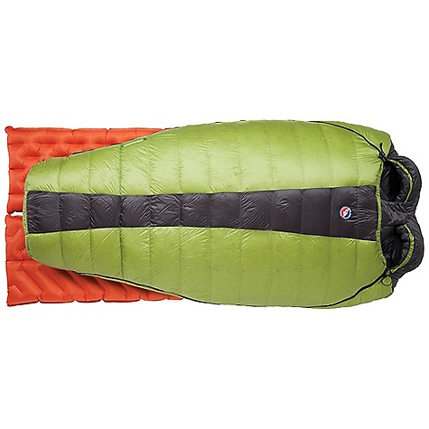 Camp and Hike Free Shipping. Big Agnes Saddle Mountain SL 15 Degree Sleeping Bag DECENT FEATURES of the Big Agnes Saddle Mountain SL 15 Degree Sleeping Bag Designed for two people Two, half pad sleeves design Mummy shaped bag Extra 2in./5cm of length in foot box: King Solomon, Big Creek and Cabin Creek Zipper on each side Pillow pockets Liner loops Mesh storage sack and nylon stuff sack No-draft collar, No-draft wedge, No-draft zipper, No-draft center flap The SPECS Capacity: 2 Person Temperature Rating: 15deg F / -9deg C Fill Type: 700 DownTek Fill Weight: 32 oz / 900 g Bag Weight: 3 lbs 13 oz / 1732 g Stuff Sack Size: XL: 10 x 21in. / 25 x 53 cm Compressed Size: 11 x 11in. / 28 x 28 cm Fits Up To: 6' / 183 cm Pad Size: 20in. / 51 cm wide Pertex nylon shell Nylon Taffeta lining Insotect Flow Construction 700 fill DownTek water repellent down - $569.95