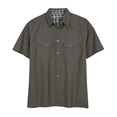 Free Shipping. Kuhl Men's Stealth SS Shirt DECENT FEATURES of the Kuhl Men's Stealth Short Sleeve Shirt Microfiber with natural odor and climate control UPF 30 achieved through mechanically spun yarn Two front chest pockets with metal button front Hidden security pocket Easy care, wash and wear The SPECS Fabric: Ionik Silver ion microfiber, 100% Nylon Fabric Construction: 3.8 oz/sq. yd; 130 GSM - $59.95