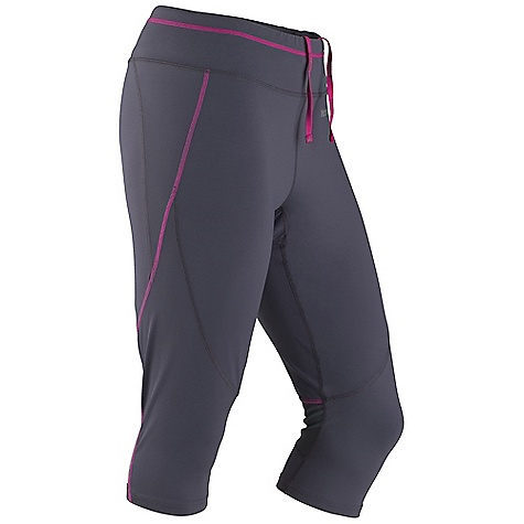 Free Shipping. Marmot Women's Trail Breeze 3-4 Tight DECENT FEATURES of the Marmot Women's Trail Breeze 3/4 Tight Breathable, Stretch, Light Weight Performance Nylon Fabric Ultraviolet Protection Factor (UPF) 30 Quick-Drying and Wicking Mesh Paneling behind the knees for added breathablility Coolmax interior gusset liner Compression fit for increased performance Flat-Locked Seams for Added Comfort Zipper Secure Back Pocket and Interior Key Pocket Interior Logo Drawcord for Secure Fit Reflectivity The SPECS Weight: 7.4 oz / 209.8 g Inseam: 17in. Fit: Athletic 77% Nylon Tactel 23% Elastane Single Jersey 7.0 oz/yd - $67.95