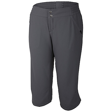 The Mountain Hardwear Women's Petrina Capri is lightweight and water-repellant. It's extra stretchy and keeps up with all your movements. This makes them really good for Climbing or dancing or running around town. Whether you're a soccer player or a soccer mom, these Mountain Hardwear capris will keep you comfy. Being a soccer mom is my worst nightmAre. Features of the Mountain Hardwear Women's Petrina Capri Two front hand pockets, one rear zip pocket One side pocket with zipper for secure storage Engineered waistband with strategically placed elastic for comfortable Fit Two low profile snaps at center-front closure DWR finish repels water - $29.99