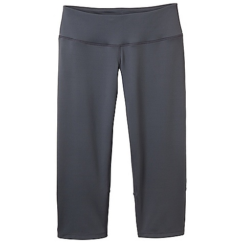 Free Shipping. Prana Women's Venus Capri DECENT FEATURES of the Prana Women's Venus Capri Nevaeh performance jersey Delicate slit detail at back leg Flattering wide waistband Gusset for added comfort Inseam: 22in. / 55.9 cm Relaxed fit Standard The SPECS 87 Polyester / 13 Spandex 8 oz / sq yd - $74.95