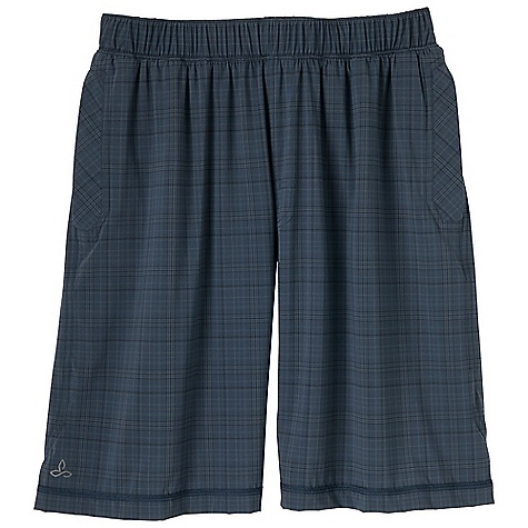 Free Shipping. Prana Men's Transit Short DECENT FEATURES of the Prana Men's Transit Short Ultra lightweight 4-way stretch nylon Yarn dye plaid pattern Quick drying and abrasion resistant, Encased elastic waistband Reflective logo Back pockets with zipper closure DWR coated Standard fit The SPECS Inseam: 9in. / 22.86 cm 85 Nylon / 15 Lycra - $74.95