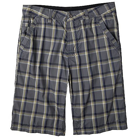 Free Shipping. Prana Men's Winder Short DECENT FEATURES of the Prana Men's Winder Short Lightweight nylon plaid Walkshort silhouette with high performance fabrication Quick drying Abrasion resistant Mesh pocketing UPF rated for sun protection Inseam: 33 / 83.8 cm, Waist: 11in. / 27.94 cm Standard Fit The SPECS 100 Nylon - $67.95