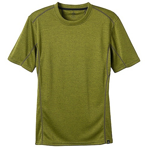 Free Shipping. Prana Men's Talon Crew DECENT FEATURES of the Prana Men's Talon Crew Double faced fabrication Quick drying mesh on the back side helps distribute moisture to the surface of the garment Flatlock seams Performance Fit The SPECS 100 Polyester - $57.95