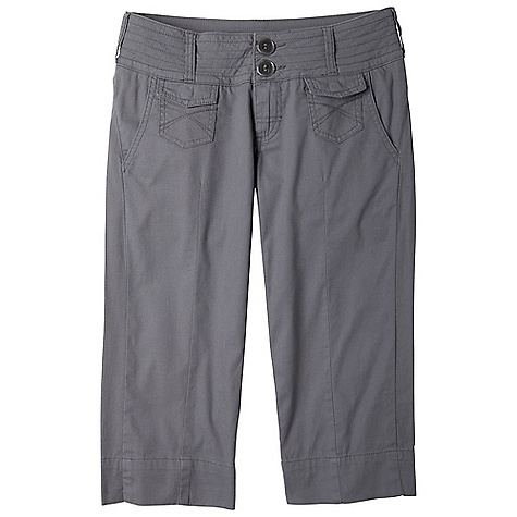 Free Shipping. Prana Women's Renna Capri DECENT FEATURES of the Prana Women's Renna Capri Stretch 'Tess' canvas Wide waist style capri with front slant pockets and patch flap pockets Back welt pockets Inseam: 19.5in. / 49.5 cm Standard Fit The SPECS 97 Organic Cotton / 3 Spandex 5.5 oz / sq yd - $74.95