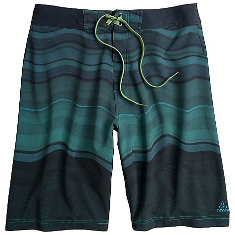 Features of the Prana Men's Sediment Short Light weight 4-Way stretch woven Watercolor gradient design Contrast waistband with velcro closure and stretch polyester fly panel Stretch: Stretch fabrication extends, expands and contracts to move with you allowing for ultimate flexibility during any sport, activity or movement UPF (Ultra Violet Protection Factor): The protection given to the skin by a fabric is indicated by its UV Protection Factor (UPF) Specifically designed to block the sun's harmful UV radiation from damaging the skin (widely known as UVA/UVB/UVC rays) Quick Dry: Water resistant, these products keep moisture on the fabric's surface making it easy for the sun and/or air to lift moisture out and promote evaporation - $41.99