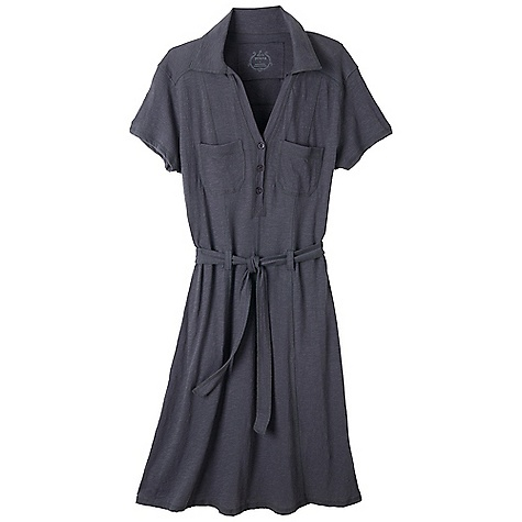 Entertainment Free Shipping. Prana Women's Aster Dress DECENT FEATURES of the Prana Women's Aster Dress Jersey Button front shirt dress with self adjusting belt at waist The SPECS 100 Organic Cotton - $74.95
